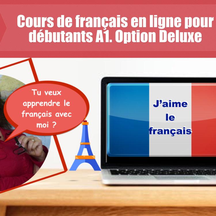 Cours de français  pour débutants. Option DELUXE