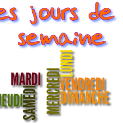 The days of the week in french