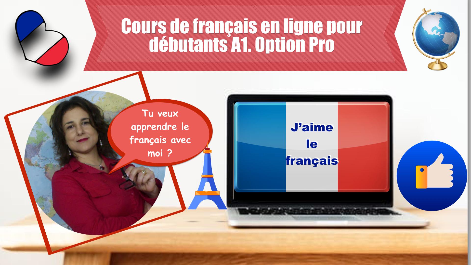 Videocorso di francese online A1.  Option Pro